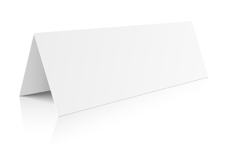 grey: detailed illustration of a blank table paper card template, eps10 vector