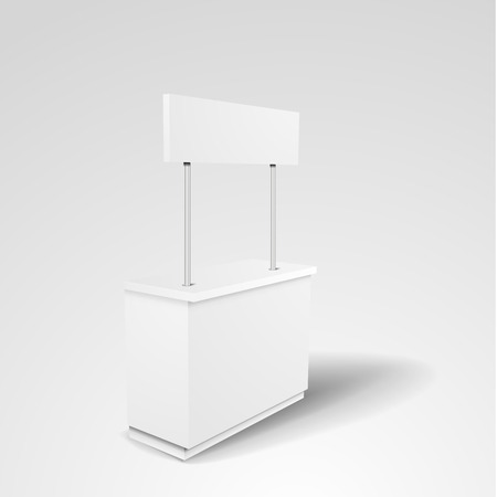 detailed illustration of a blank Promotion counter, Retail Trade Stand, eps10 vector