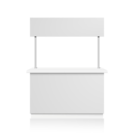 detailed illustration of a blank Promotion counter, Retail Trade Stand Isolated on white background, eps10 vector Ilustração