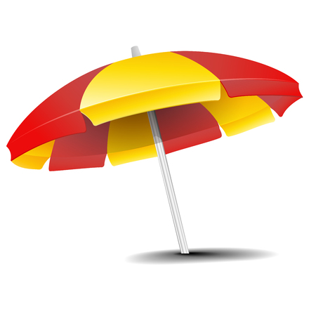 detailed illustration of a beach umbrella isolated on white Illustration