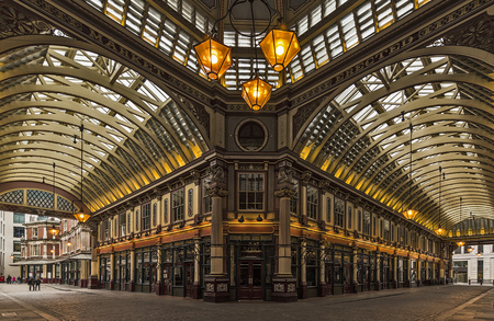 interior of a victorian style market hall in London, Great Britain