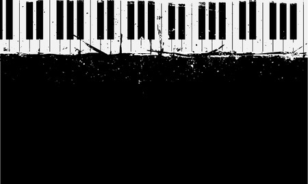 detailed illustration of grunge piano background Vettoriali