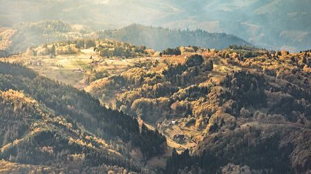 wonderful panoramic view over the black forest in southern germany