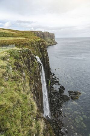 Kilt Rock Waterfall on the Isle of Skye, Scotland, UK
