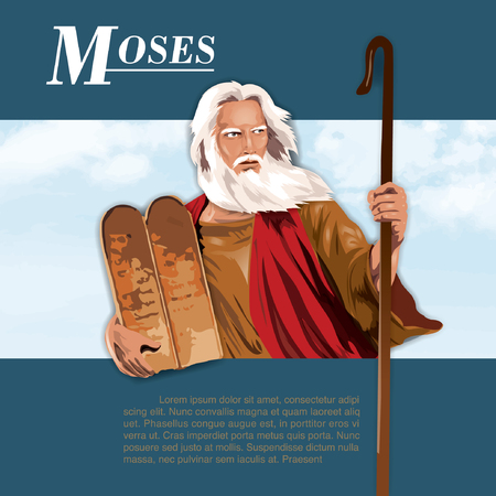 Illustration of moses in Holy Bible