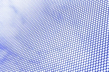 gauze wire by metal hexagonal net and cloudy blue sky background with elevating angle of view Imagens