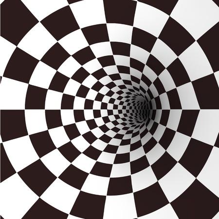 Noir et blanc Vector tunnel en spirale