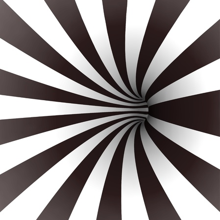 Black and white spiral tunnel  Vector Vector