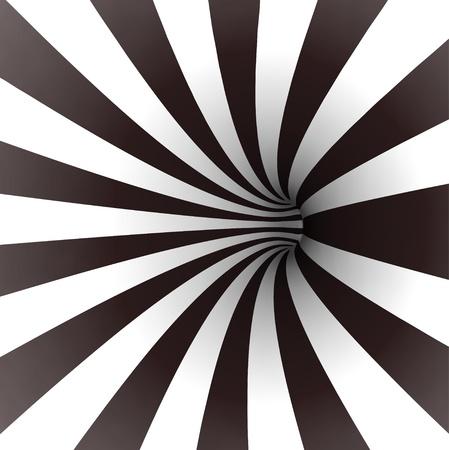 Espiral blanco y negro Vector túnel Ilustración de vector