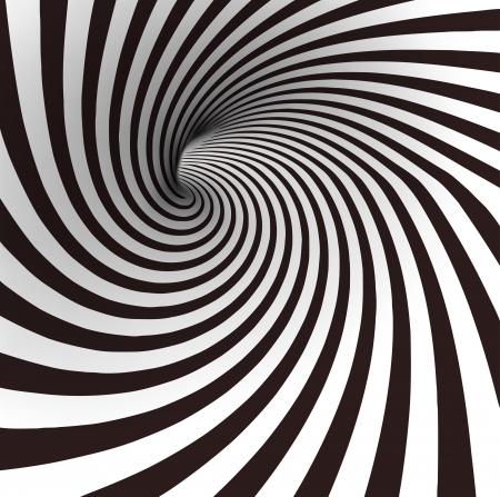 トンネル: 黒と白の螺線形のトンネル ベクトル  イラスト・ベクター素材