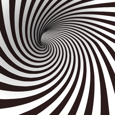 twist: Black and white spiral tunnel  Vector