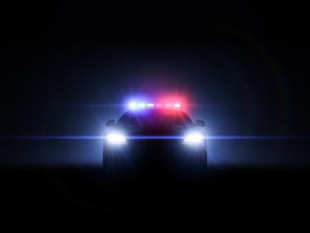 Voiture de police avec gamme compl�te de lampes