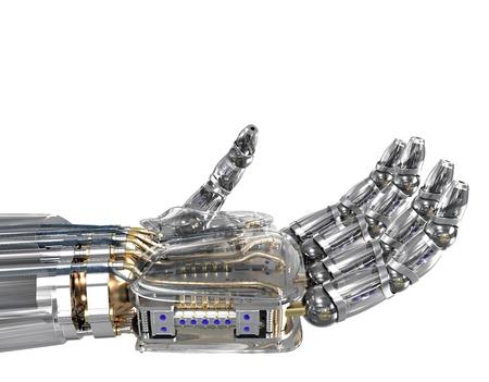 Robot hand holding imaginary object Stock Photo - 18480757