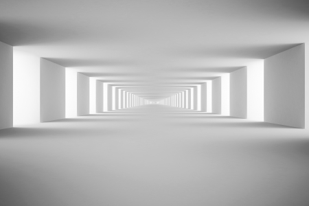 White tunnel  3d render Stock Photo - 18480786