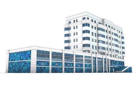 Modern cartoon buildings  Set  6