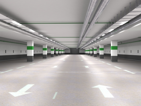 car garage: Underground parking