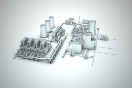 turbina de vapor: torre de refrigeraci�n de una central nuclear