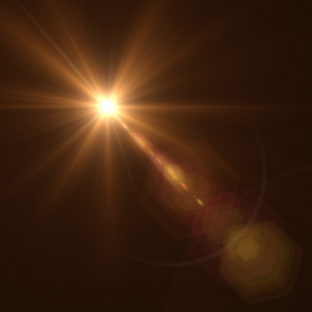 Background texture with warm sun and lens flare, Vector