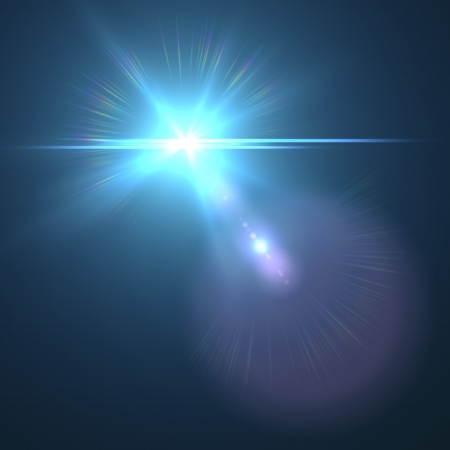 blue flare Illustration