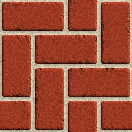Vector seamless brick wall made of red bricks   イラスト・ベクター素材