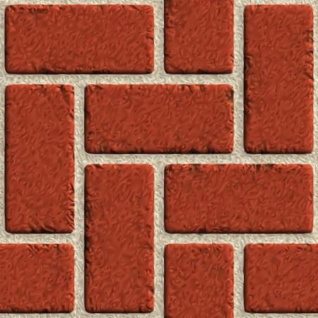 Vector seamless brick wall made of red bricks  Illustration