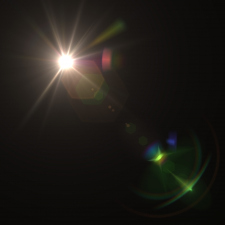 lens: blue flare Illustration