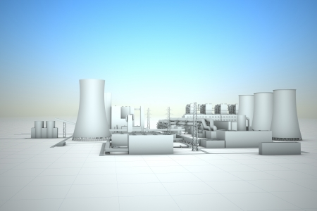 cooling tower of nuclear power plant Stock Photo - 18481114
