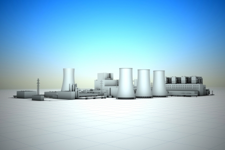 cooling tower of nuclear power plant Stock Photo - 18481128
