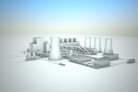 cooling tower of nuclear power plant Stock Photo - 18481126