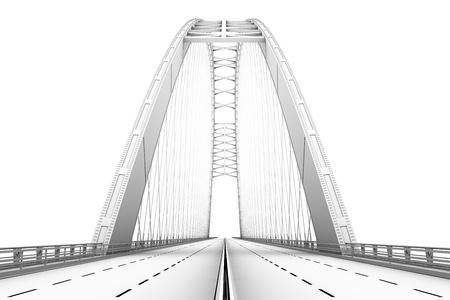 3d wireframe rendu d'un pont