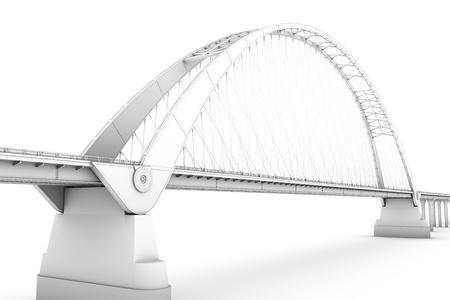 bridge: 3d wireframe render of a bridge