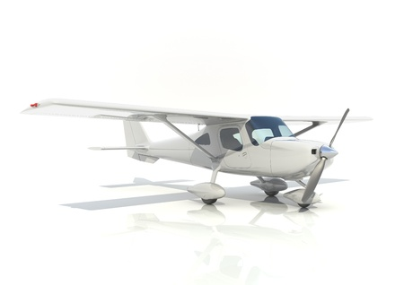 light aircraft with single propeller