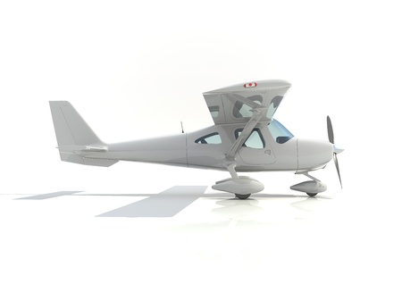 light aircraft with single propeller photo