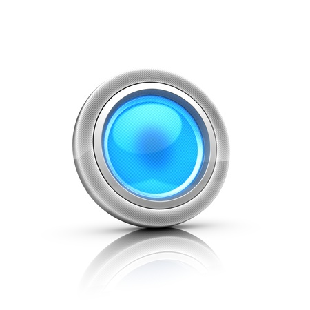 Button 3d Stock Photo - 18481280