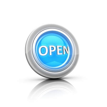 Button with Label OPEN Stock Photo - 18481370