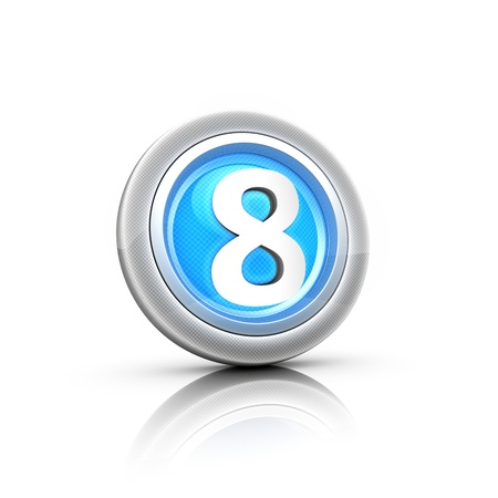 Button with digital label Stock Photo - 18481395