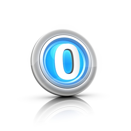 Button with digital label Stock Photo - 18481397