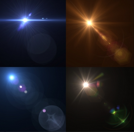 Vector lens flares  Set, collection