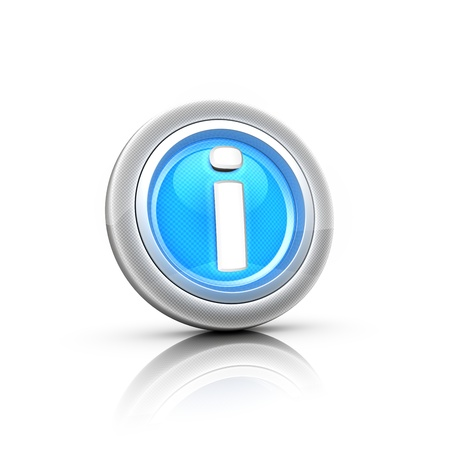 command button: Information 3d button for app Stock Photo