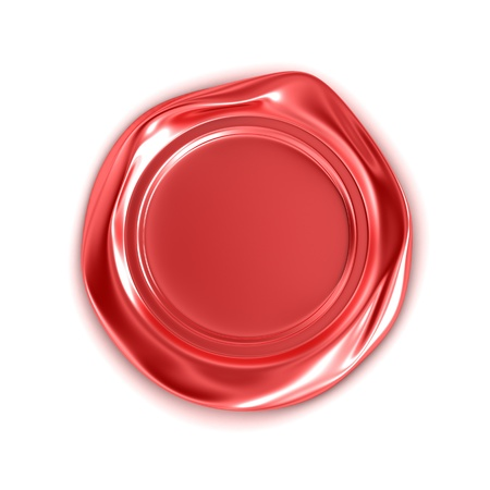 waxseal: Red wax seal isolated on white