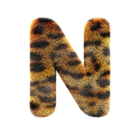 cat alphabet: text basedon leopard skin, isolated in white
