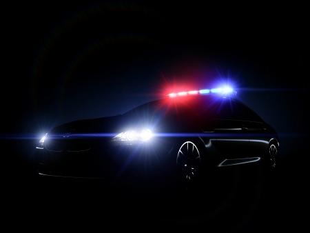 Politiewagen Stockfoto