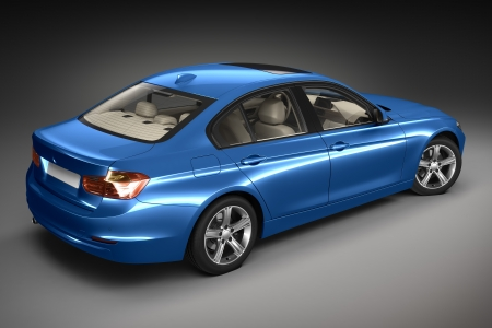 Sports car   3d render