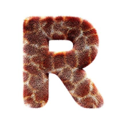 Isolated giraffe alphabet letter Stock Photo - 18943459