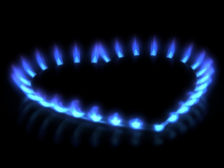 ring of fire: stove  Gas flame