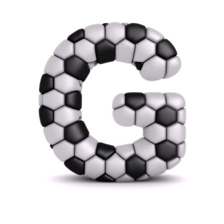 sports form: Lettera con calcio sollievo trama Archivio Fotografico