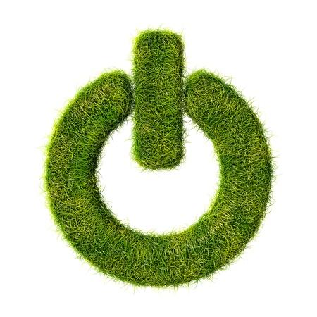 puissance herbe ic�ne Banque d'images