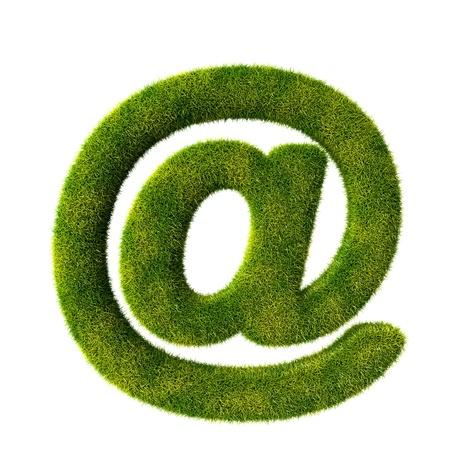 e new: Grass Email symbol Stock Photo