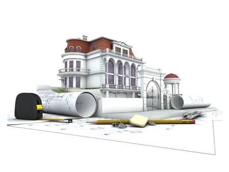 Maison cours de conception, dessin et l'architecture de visualisation