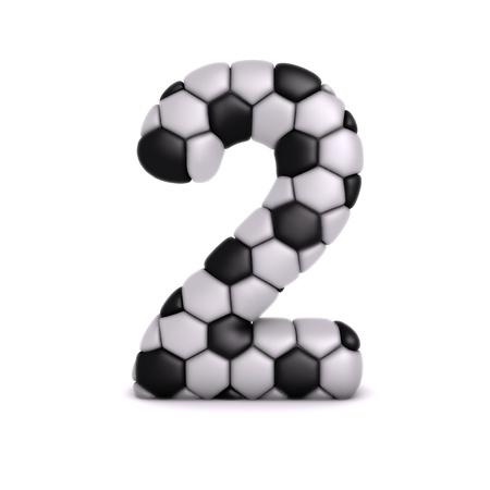 Lettre avec le football soulagement texture Banque d'images
